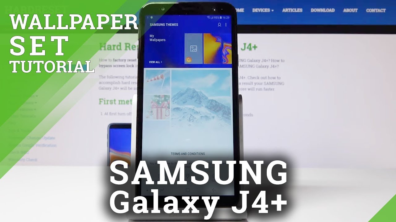 How To Change Wallpaper In Samsung Galaxy J4 Update Screen Youtube
