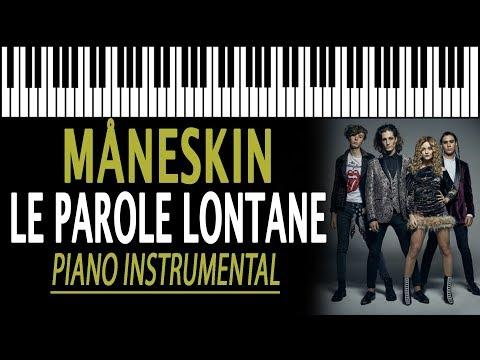 MÅNESKIN - Le Parole Lontane KARAOKE (Piano Instrumental)