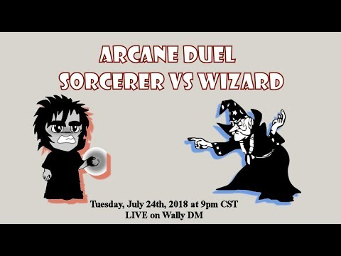 WHO WILL WIN!? D&D 5E Arcane Duel - Sorcerer vs Wizard - LIVE!