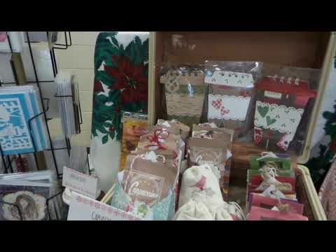 Craft Fair Booth Set Up with Vintage Holders & Flair Christmas Sales, 2017