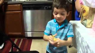 Funny kid gets the best birthday present ever....a BANANA !