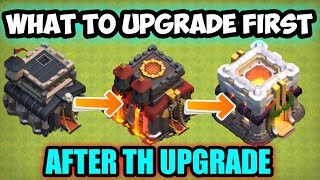 WHAT TO UPGRADE FIRST the perfect order to grow you village clash of clans....