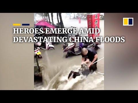 Heroes emerge amid devastating China floods