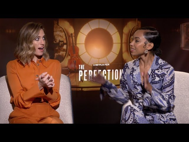 THE PERFECTION Netflix interviews - Allison Williams and Logan Browning