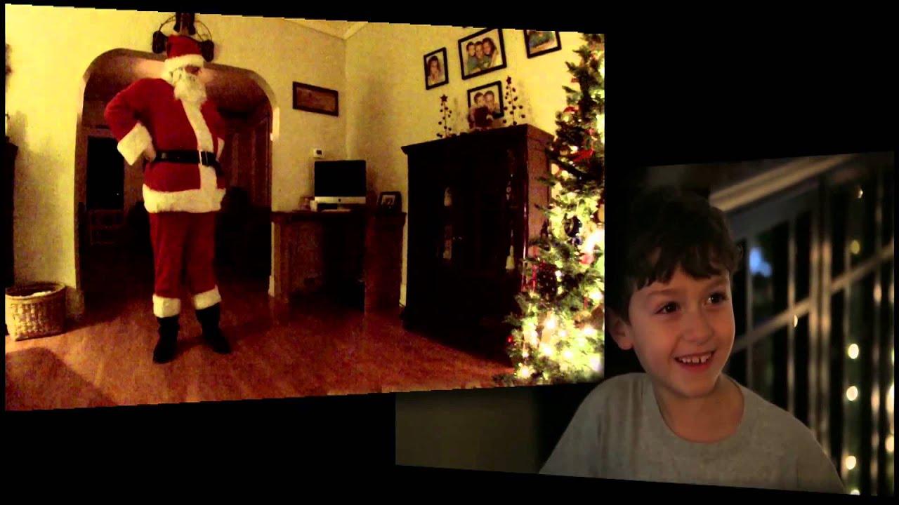 santa claus caught on camera youtube