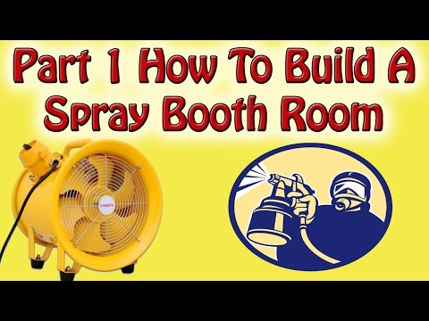 Part 1 How To Build A Spray Booth Room ATEX Rated Extract Fan