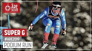 Sofia Goggia | Silver Medal | Ladies' SuperG | Are | FIS World Alpine Ski Championships