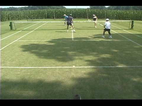Lawn Tennis - Doubles Action