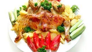 Курица в майонезе с чесноком в духовке! Рецепт!