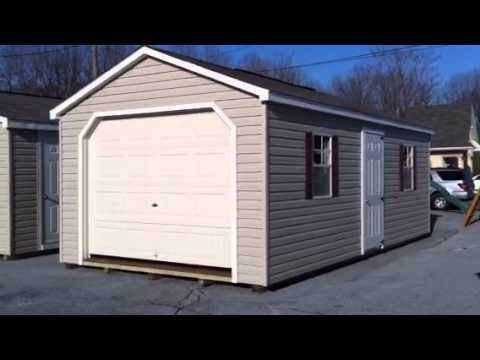 Prebuilt single car garage youtube prebuilt single car garage solutioingenieria Gallery