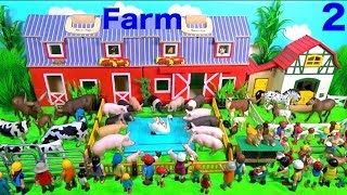 Farm Animal Toys For Kids - Learn Animal Names and Sounds - Learn Colors