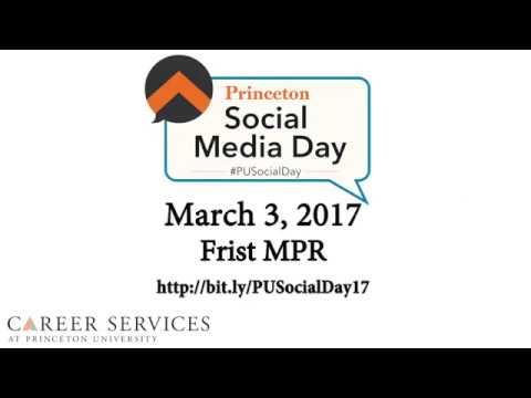 princeton social media day career services