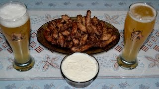 Закуска к пиву. Куриные шеи с сырным соусом! Snack to beer. Chicken neck with cheese sauce!