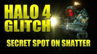 Halo 4 - NEW Glitch - secret spot on Shatter - (Crimson map pack)