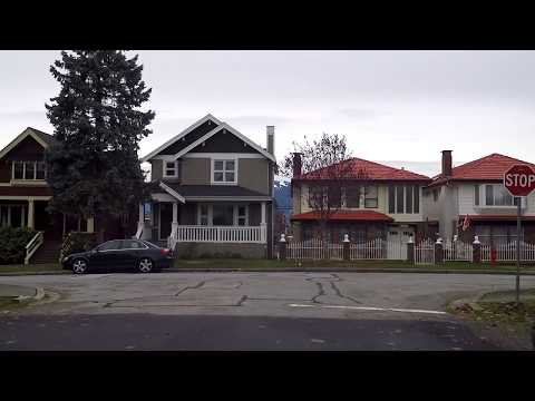 Life in Canada - Driving in Vancouver BC (British Columbia) - Between Knight Street & Fraser