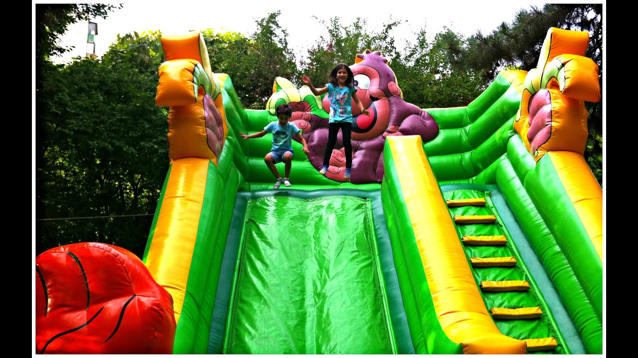 Bouncy Castle Outdoor Playground Fun Kids Inflatable Slide