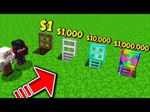 ถ้าเกิด!? บ้านใต้ประตู $1 เหรียญ VS บ้านใต้ประตู $1,000,000 เหรียญ - Minecraft พากย์ไทย