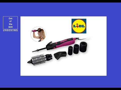 SilverCrest Hot Air Brush with Rollers 1000W UNBOXING (Lidl Personal Care)