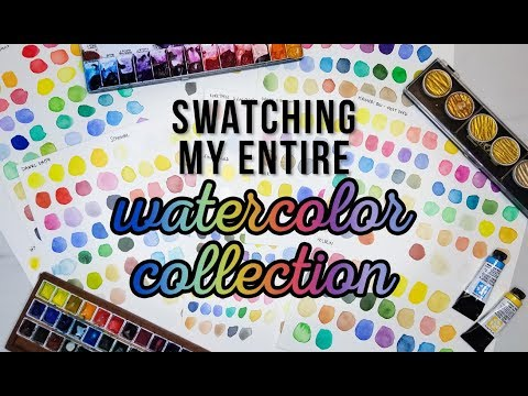 SWATCHING EVERY WATERCOLOR I OWN | 2018 Updated Watercolor Collection PART ONE