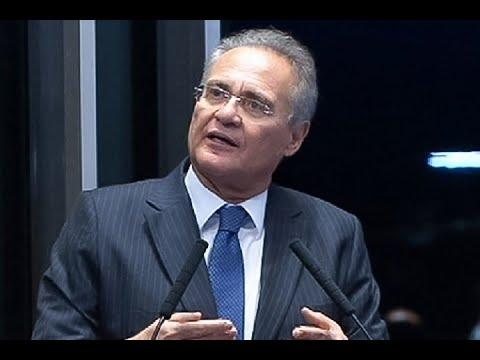 (VÍDEO) Sob vaias, assista momento em que Renan Calheiros retira candidatura a presidência do Senado