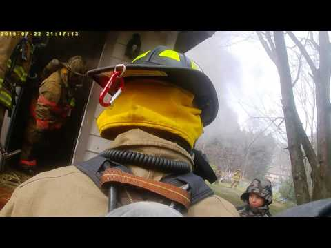advance fire dept live burn 3/18/17
