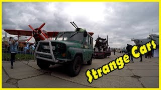 Most Strange and Unusual Looking Cars in Cars Show 2018. Funny and Crazy Design Vehicles 2018