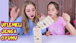 ÜFLEMELİ JENGA OYUNUNDA İNANILMAZ OLAYLAR OLDU !! | CHALLENGE - Eğlenceli Çocuk Videosu