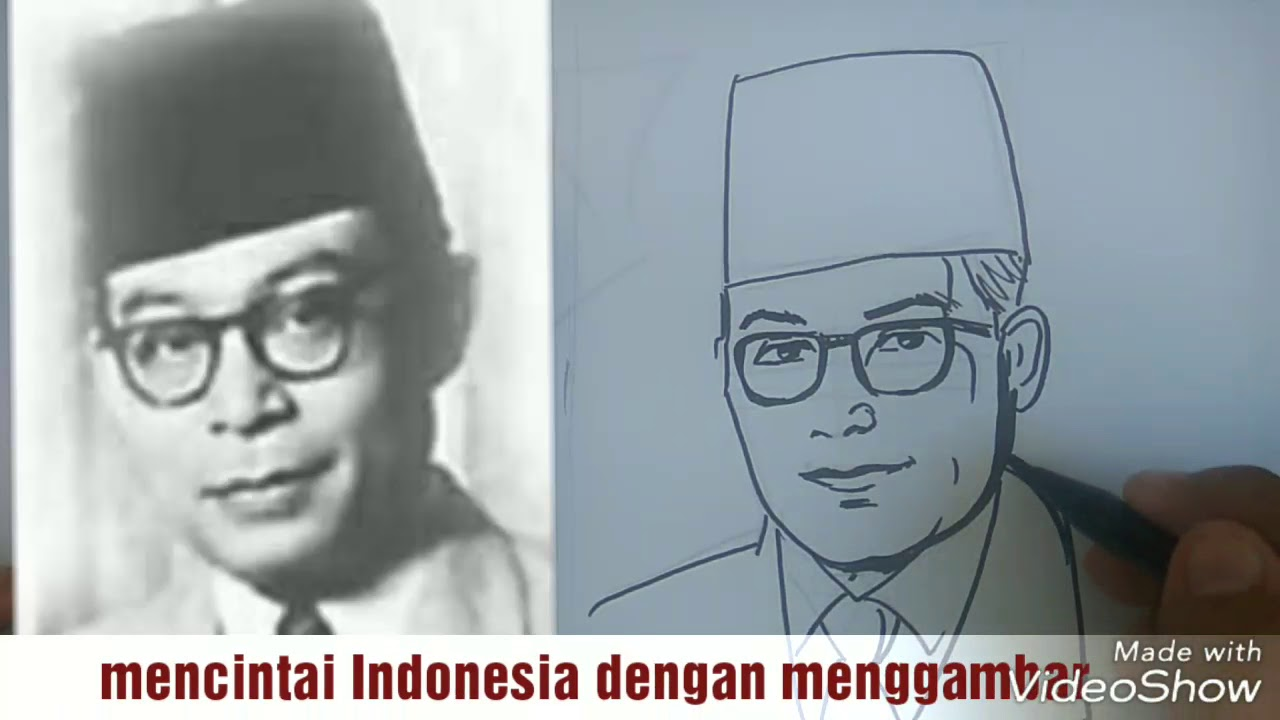 Cara Menggambar Wajah Pahlawan Proklamator Ri Bung Hatta Cara Anak