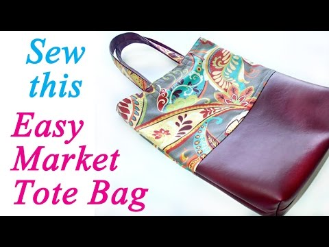 How to sew a strong market tote bag