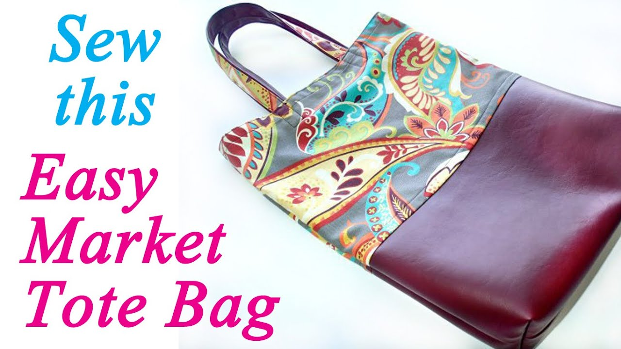 How To Sew A Strong Market Tote Bag Youtube