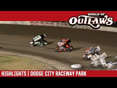 World of Outlaws Craftsman Sprint Cars Dodge City Raceway Park October 20, 2018 | HIGHLIGHTS