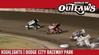 World of Outlaws Craftsman Sprint Cars Dodge City Raceway Park October 20, 2018 | HIGHLIGHTS