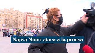 """Najwa Nimri se pone agresiva con la prensa: """"Quita la puta cámara que te meto"""""""