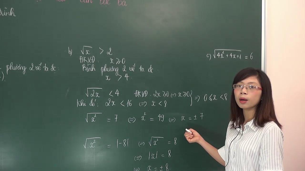 Tìm x giải phương trình, bất phương trình chứa căn thức –  Toán lớp 9