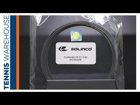Sneak Peek: 1st Look At Solinco CONFIDENTIAL Tennis String 📂