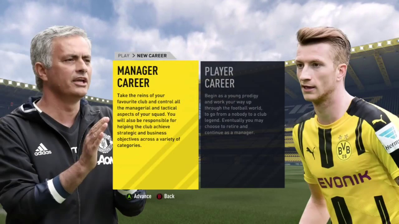 fifa 17 tutorial how to use your created player in your career mode