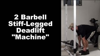 Feel Your Hamstrings Working Better WIth This Stiff-Legged Deadlift Barbell Machine