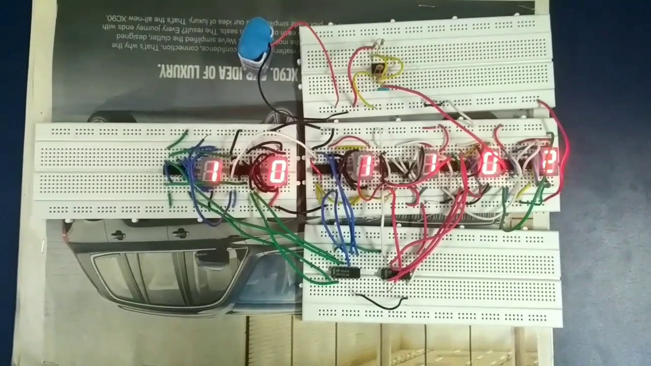 Digital Clock Using 4026 And 555 Youtube Digit 7 Segment Display Arduino Also Circuit