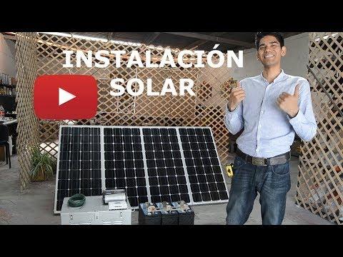 Como instalar sistema de paneles solares con baterías INDEPENDIENTE SIN CFE | TUTORIAL SENCILLO