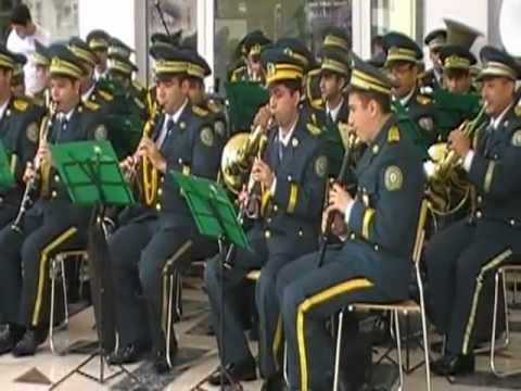 Azerbaijan Republik Border Troops military band. Travel Video