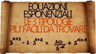 Equazioni Esponenziali - le 3 casistiche più frequenti