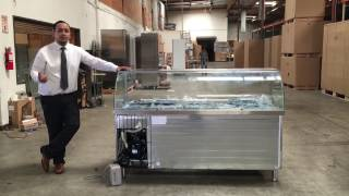 Sandwich Prep Table refrigerator Cold table Buffet table Sauces station TOPPING BAR