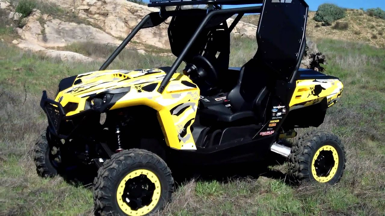 2011 Can Am Commander Doors, Blingstar Roof Rack,Long