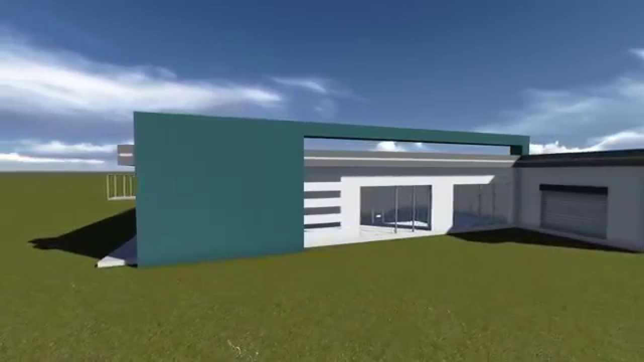 Render lumion centro de salud modelo fachada minimalista for Render casa minimalista