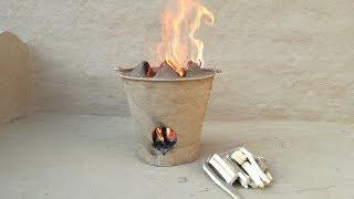 Portable Clay Stove Mobile Clay Stove Wood Burning Stove Matti ka Chulha Simple Clay Stove