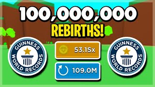 I REBIRTHED 100,000,000 TIMES ON MAGNET SIMULATOR! WORLD RECORD! HOW TO BECOME THE BEST! ROBLOX!
