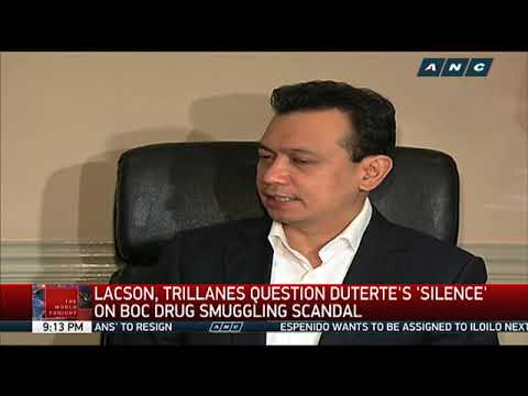 Lacson, Trillanes question Duterte's 'silence' on China drug smuggling scandal