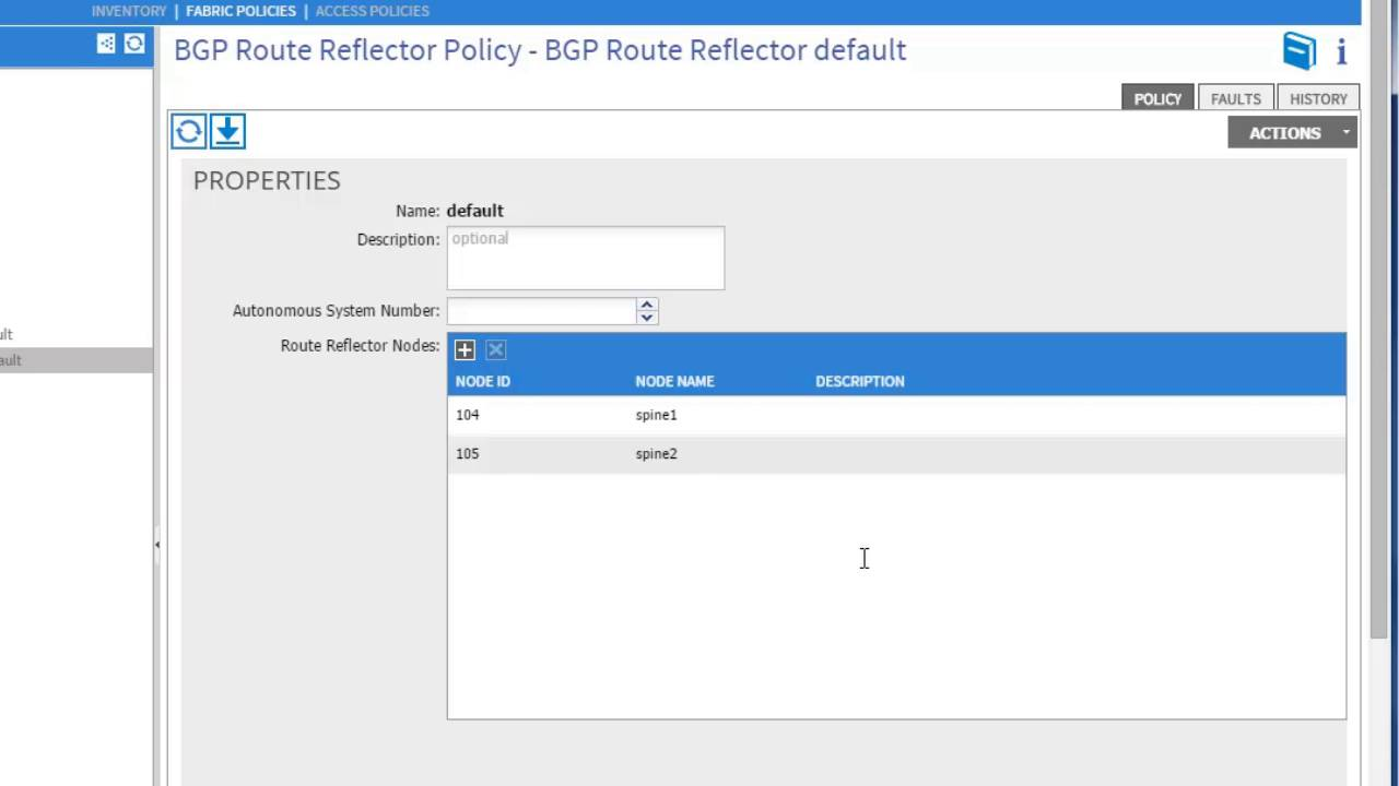 Configuring an MP-BGP Route Reflector, Release 1 0(3f)