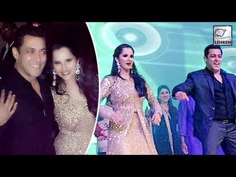 Salman Khan Dances At Sania Mirza Sister's Sangeet | LehrenTV