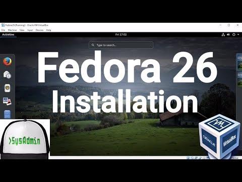 Fedora 26 Workstation Installation + Guest Additions on Oracle VirtualBox [2017]